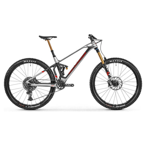 Mondraker - SUPERFOXY CARBON RR Bike in Silver (SUPER ENDURO | 2021) - ZEITBIKE
