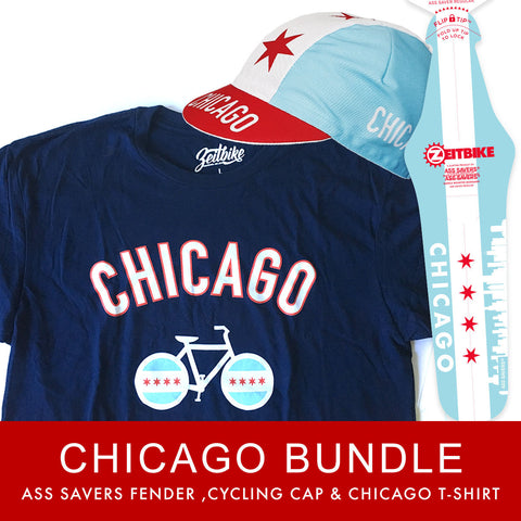 Chicago Value Bundle (T-Shirt, Cycling Cap, & Ass Savers)