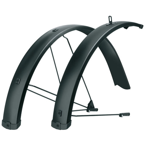 "SKS - Bike Fender Set - Bluemels 75 U Long - Black Matte, 27.5"" To 29"", 56-66mm"