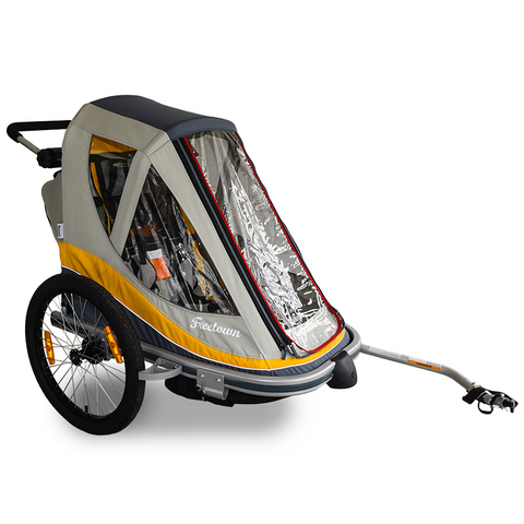 FREETOWN - Sweet Roll Kid Trailer & Stroller - Yellow/Grey