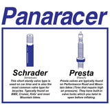 Panaracer - Removable Core Bicycle Tube - Presta (French) Valve - ZEITBIKE