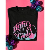 """Fight Like A Girl"" Ombre T-Shirt"