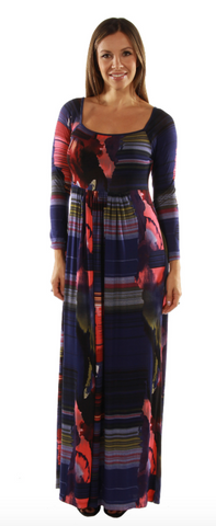 Turn on the heat abstract maxi dress