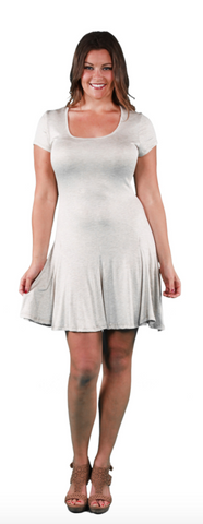 Women's Plus Size Short Sleeve A-Line Dress