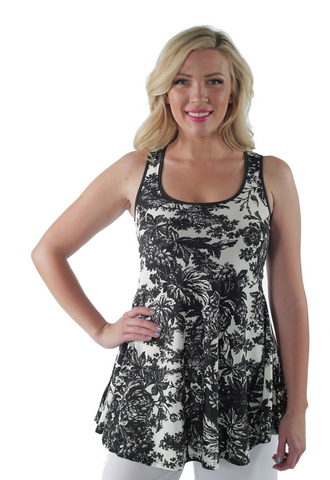 Women's Abstract Floral Tank Top