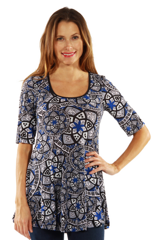 Apparel Blue Magic Tunic Top