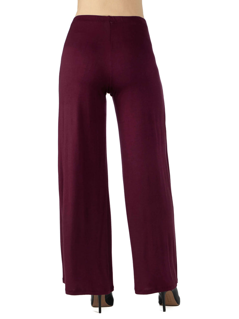 Womens Comfortable Solid Color Maternity Palazzo Pants