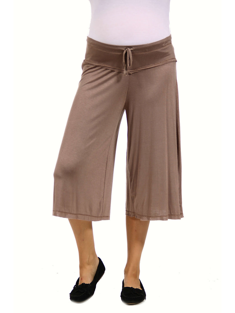 Loose Fit Straight Soft Maternity Drawstring Pant