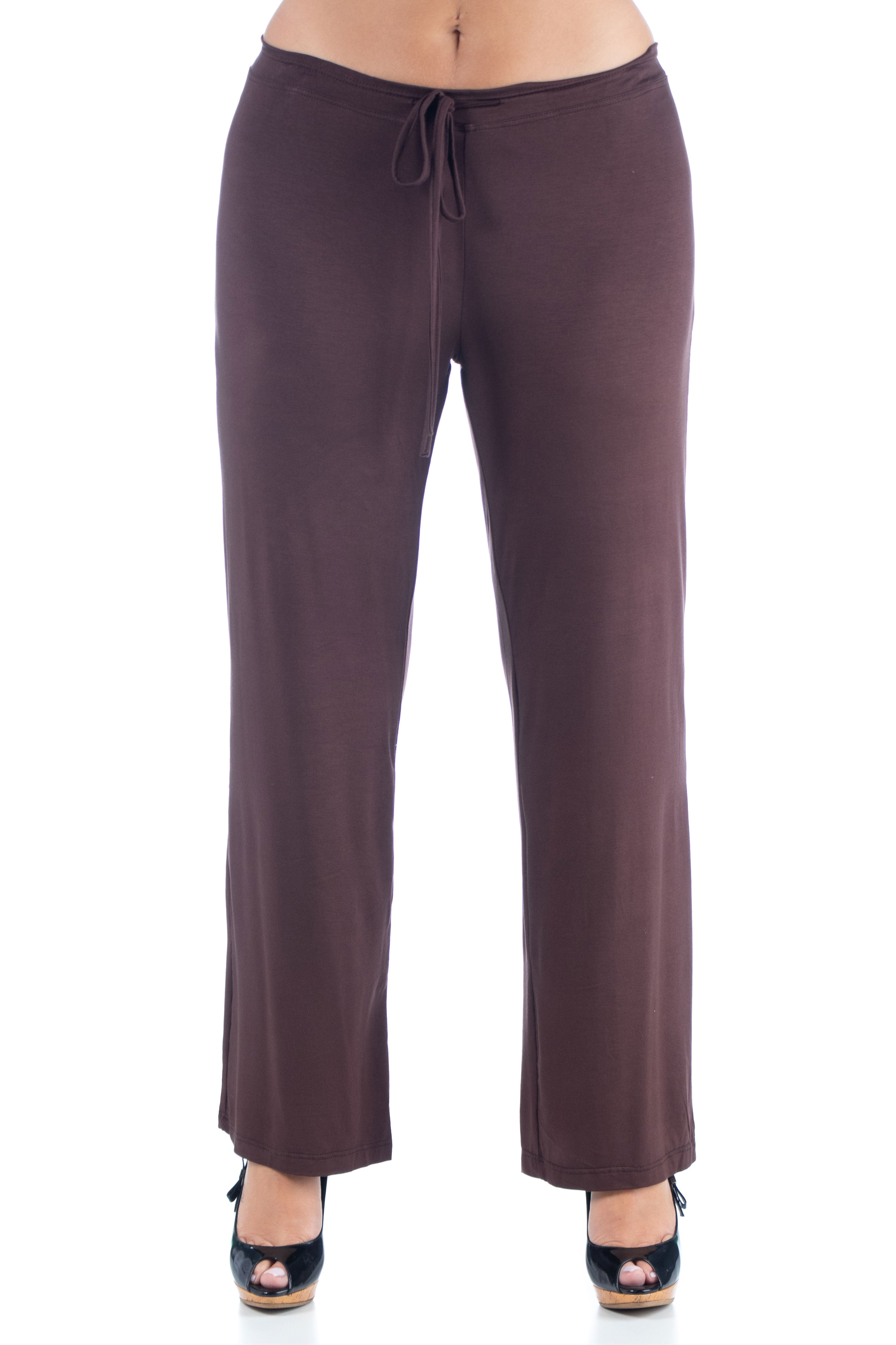 24seven Comfort Apparel Comfortable Stretch Draw String Plus Size Pants
