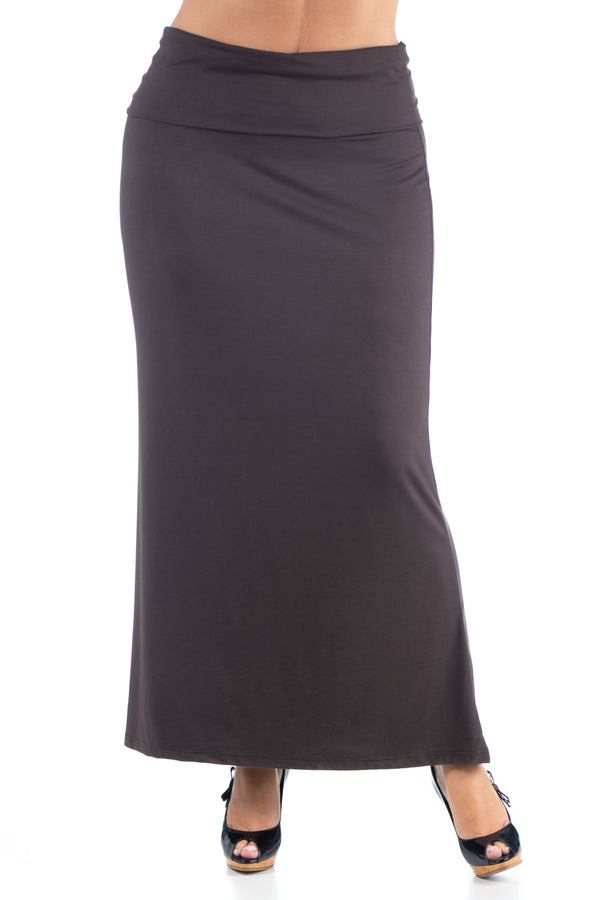 Comfortable Plus Size Foldover Maxi Skirt