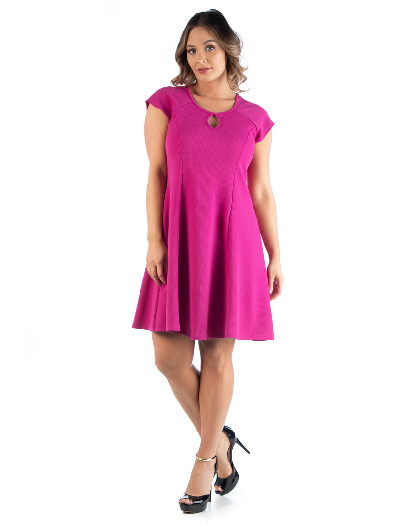 Keyhole Neck Plus Size Dress