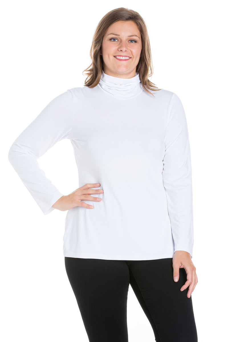 Classic Womens Plus Size Long Sleeve Turtleneck