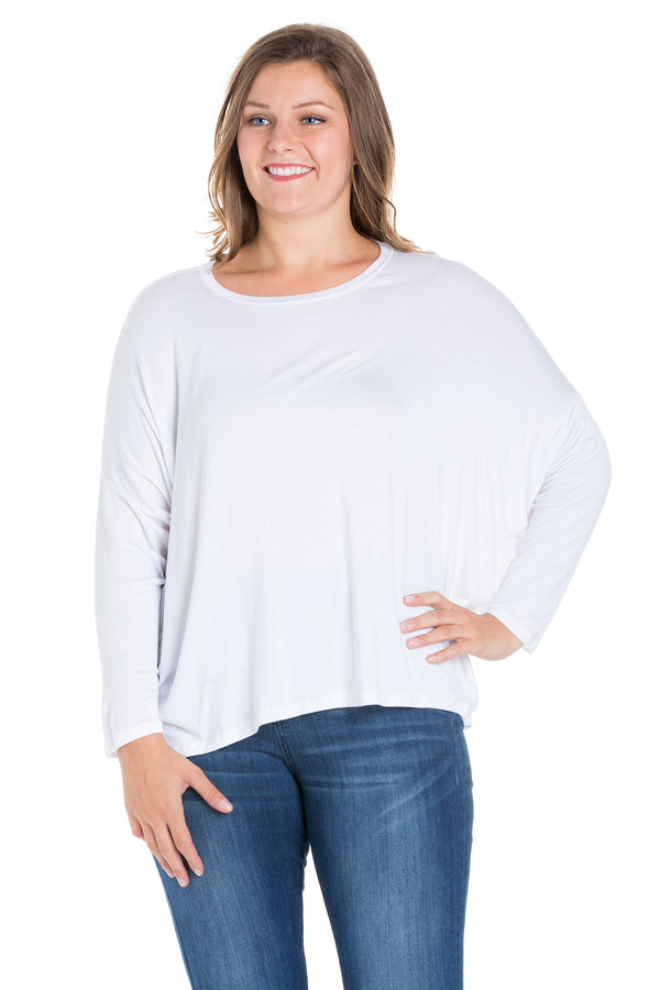 Oversized Long Sleeve Plus Size Dolman Top