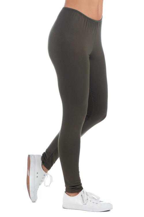24seven Comfort Apparel Comfortable Ankle Length Stretch Leggings