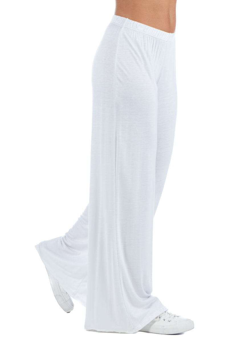 Comfortable Solid Color Palazzo Lounge Pants