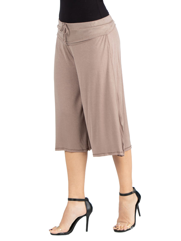 Loose Fit Straight Soft Drawstring Pant  R006516