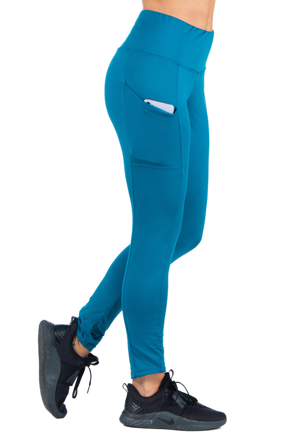 High-Rise Side Phone Pocket Active Leggings