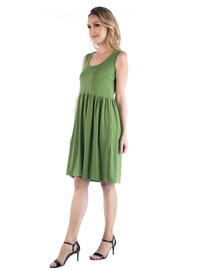 Slim Fit Sleeveless A Line Flare Dress
