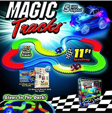 'Magic Tracks' Glow In The Dark Racing Set - Shopzle