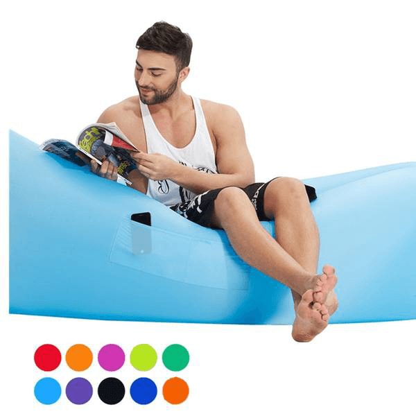 Fast Inflatable Air Sofa With Side Pocket - NEW Improved Version - Shopzle