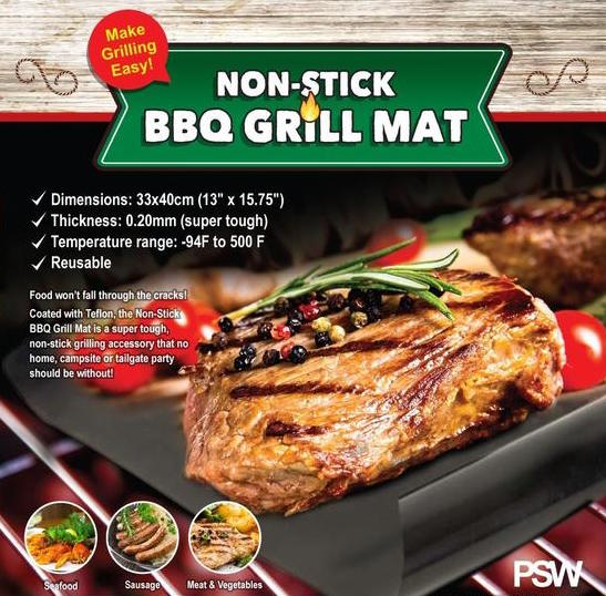 Reusable Non-Stick BBQ Grill Mat - Shopzle