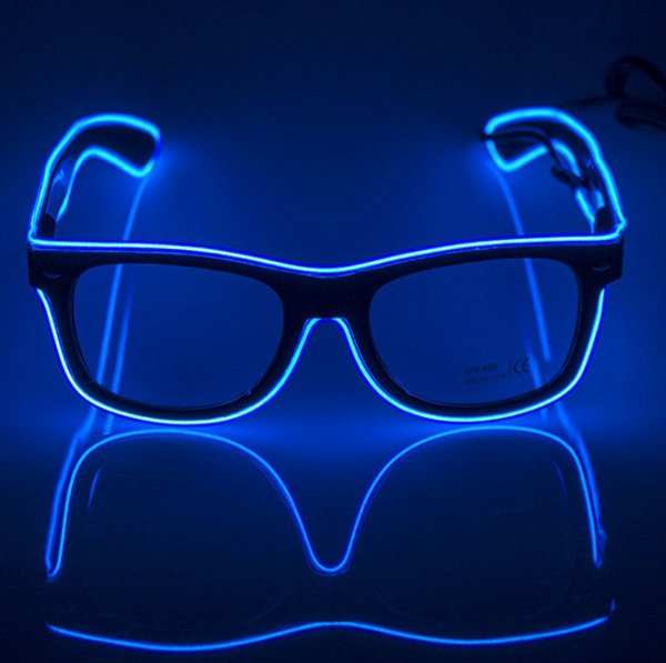 LED Party Glasses - 3 Light Modes - Many Color Options Available!