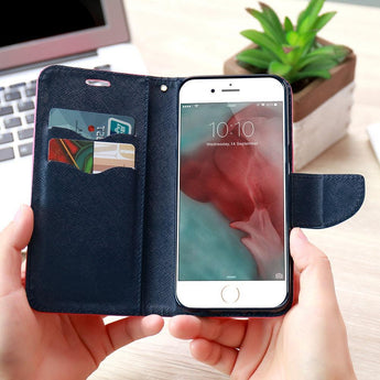 KISSCASE- Fun Leather Wallet Flip Cases For iPhone
