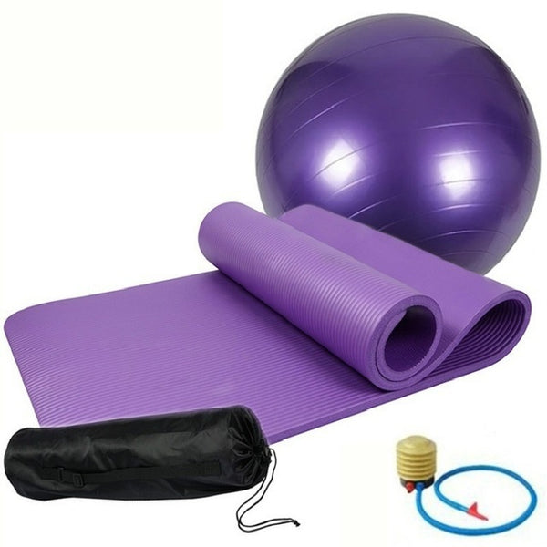 Yoga Starter Kit - (Yoga Mat + Yoga Bag + Yoga Fitness Ball + Air Pump)