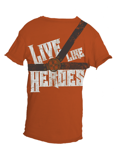 Live Like Heroes (front & back graphics)
