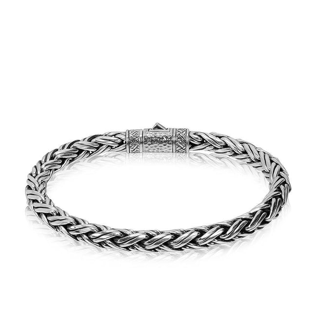 Men Bracelet - Sterling Silver Contemporary Chain Bracelet