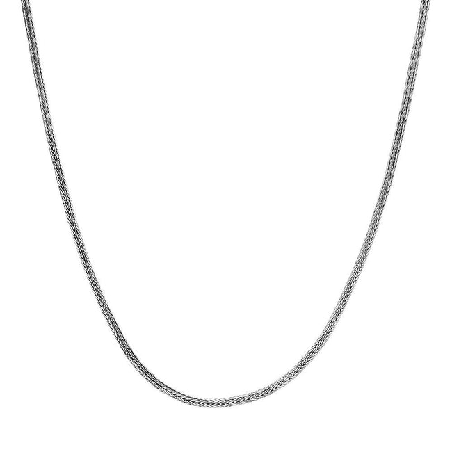 Sterling Silver Snake Style Link Necklace - Kainam