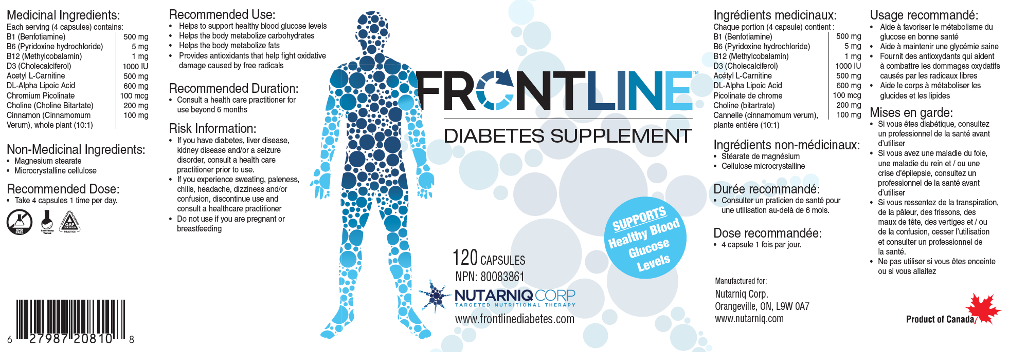 Frontline Diabetes Label