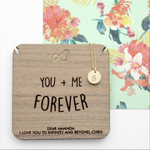 Personalised Infinity Initial Necklace **OUT OF STOCK**