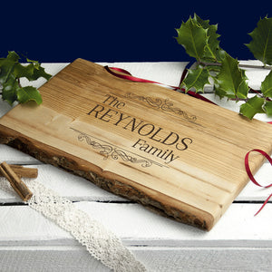 Vintage Family Rustic Serving Board