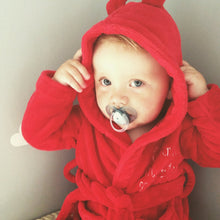 Red Baby Bathrobe with Personal Text