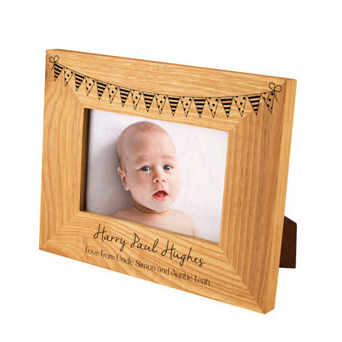 Landscape Bunting Oak Photo Frame