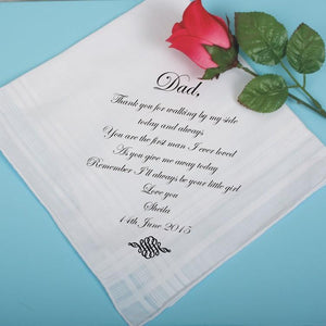 Man's Embroidered Cotton Handkerchief