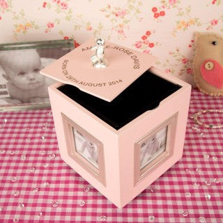 Musical Photo Keepsake Box in Pink