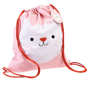 Cutie Cat Drawstring Bag