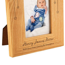 Portrait Cloud & Stars Oak Photo Frame