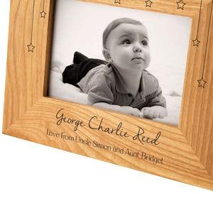 Landscape Cloud & Stars Oak Photo Frame