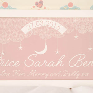 Baby Girl Starry Night Personalised Frame