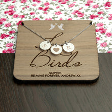 Personalised Love Birds Necklace & Keepsake **OUT OF STOCK**