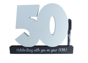50th Birthday signature number