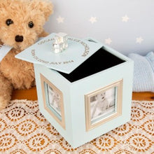 Musical Photo Keepsake Box in Blue