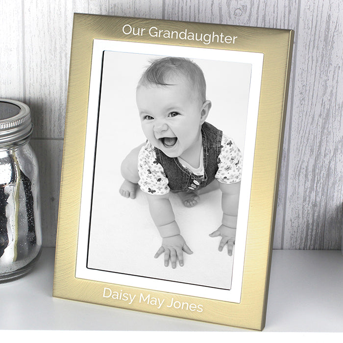 Gold and Silver Brushed 5x7 Photo Frame