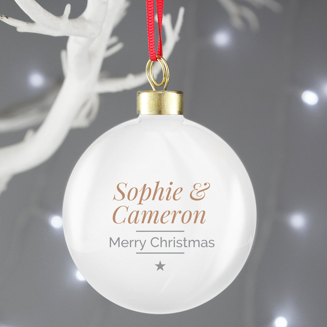 Classic Couples Christmas Bauble