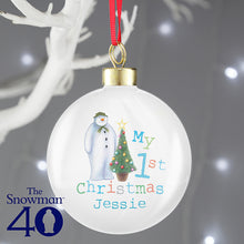 The Snowman My First Christmas Bauble