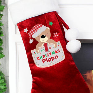 Pocket Teddy My 1st Christmas Stocking