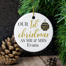 1st Christmas as Mr & Mrs Decoration